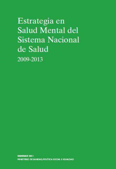 estrategia en salud mental del sistema nacional de salud 2009-2013