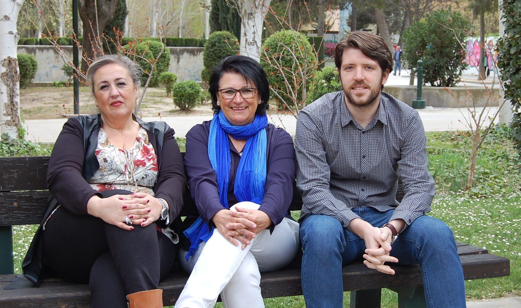 Lola Sobrino, responsable del equipo de psicólogos; Ana López Trenco, coordinadora del servicio; Óscar Ortega, psiquiatra.