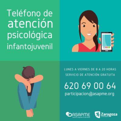 Este programa de atención psicológica gratuita se canalizará a través del teléfono 620690064 y el email participacion@asapme.org