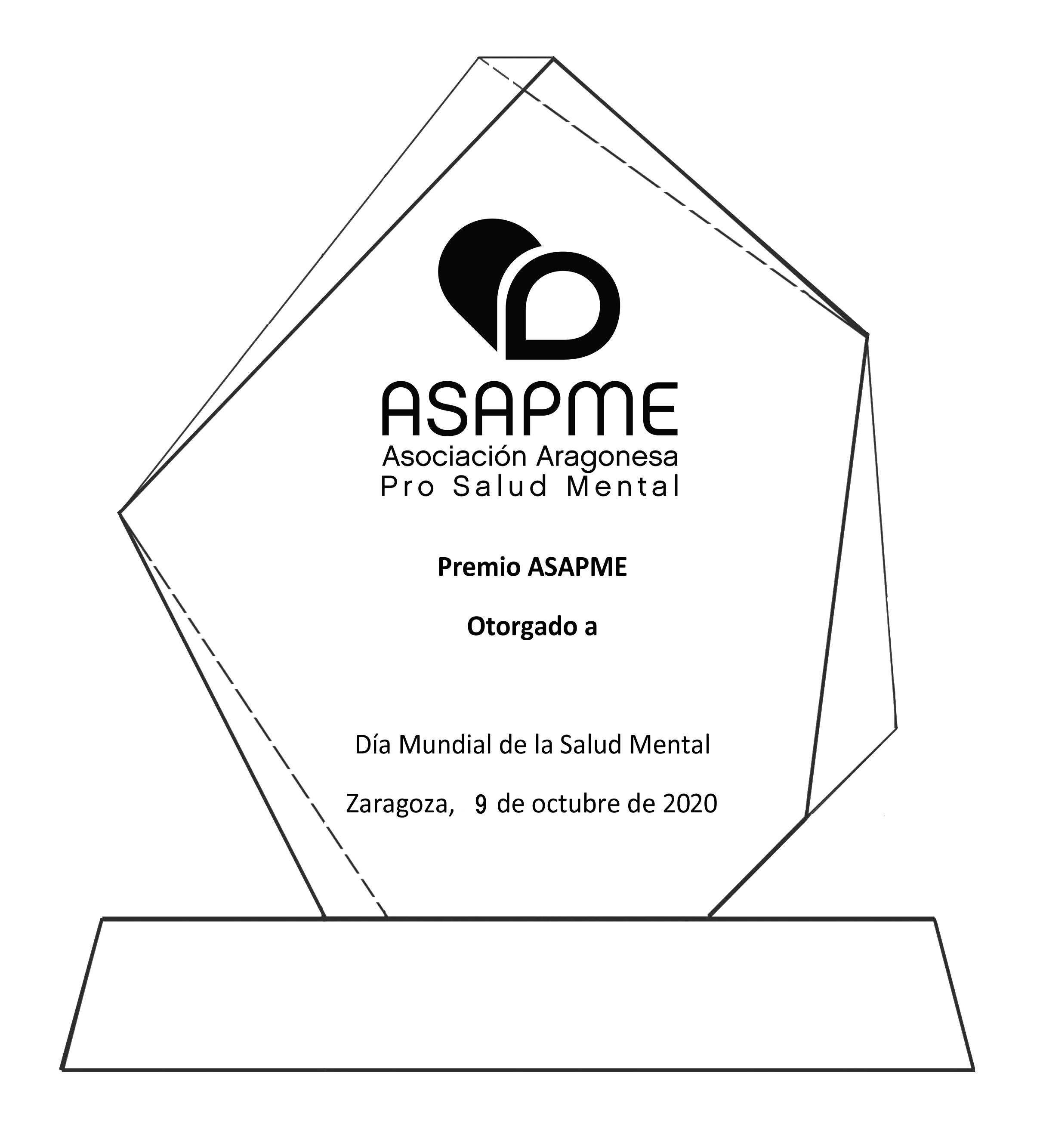 Colegio de Psicología y el Albergue de Zaragoza, premios ASAPME 2020
