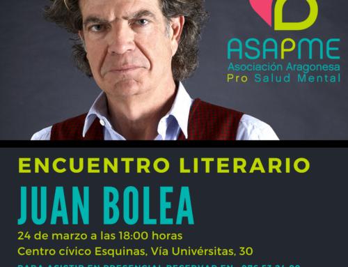Juan Bolea y Espido Freire, próximos participantes del ciclo de encuentros literarios de ASAPME