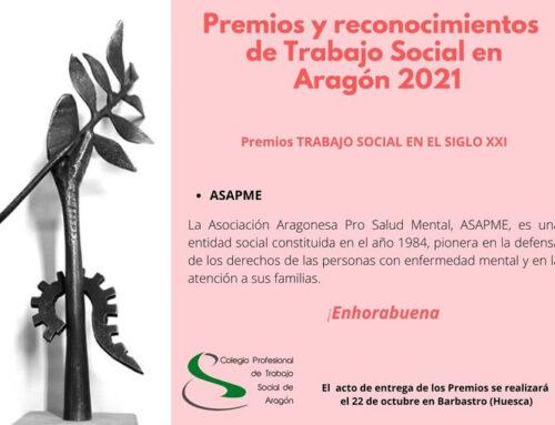 """ASAPME, premio """"Trabajo Social en el siglo XXI"""""""