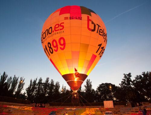 ASAPME celebra el Día Mundial de la Salud Mental volando en globo en una Zaragoza iluminada de naranja